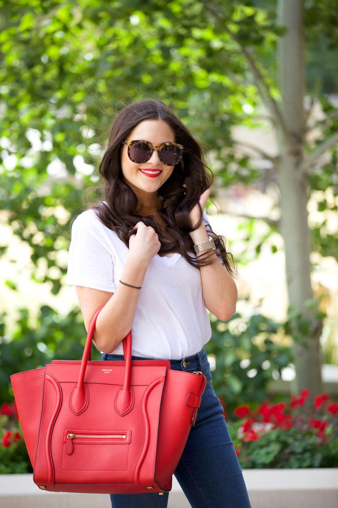 red-celine-mini-luggage-tote-handbag