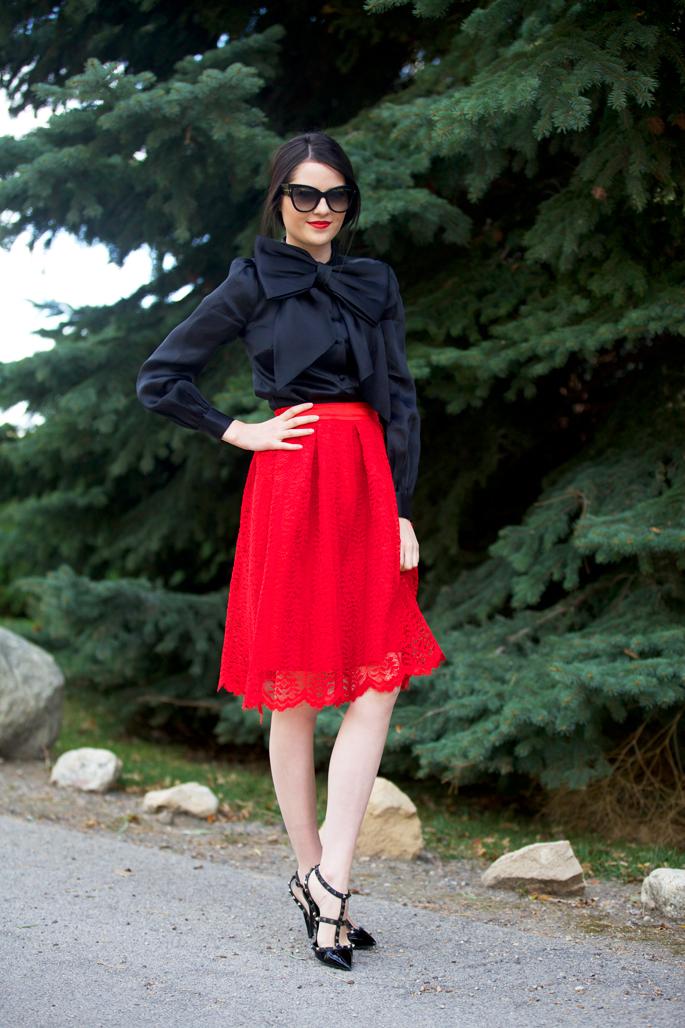 red-lace-midi-skirt-christmas