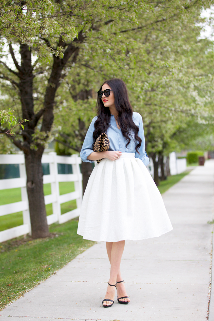 rachel-parcell-full-white-pleated-skirt-spring