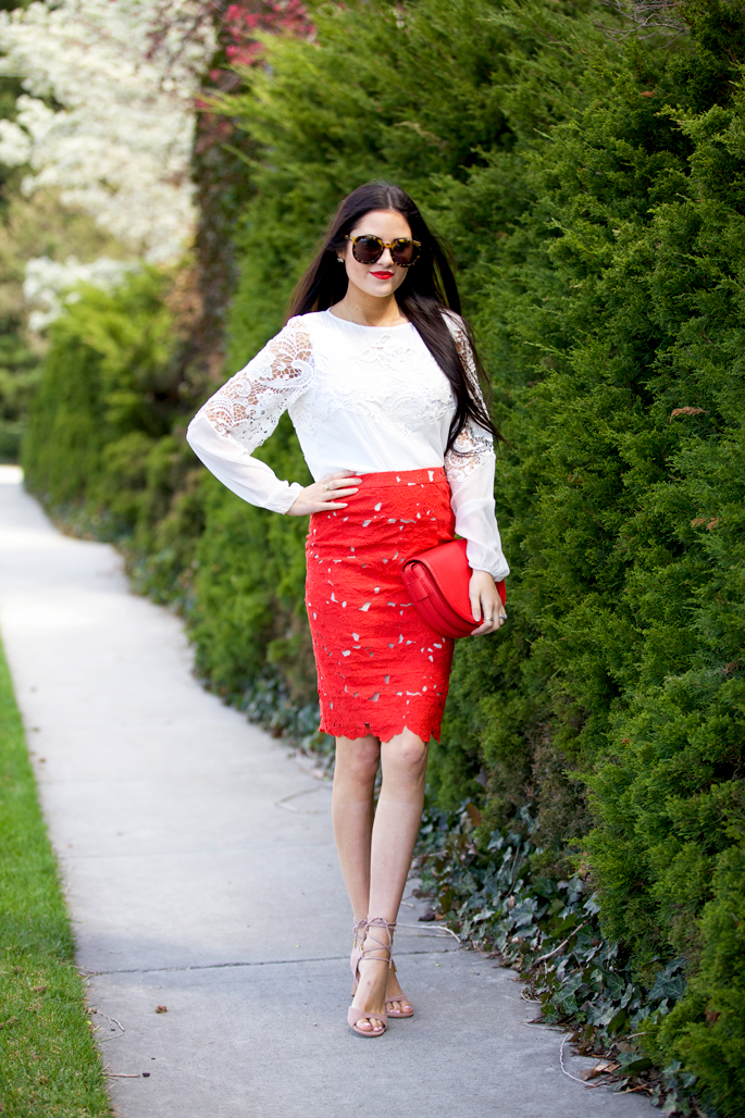 red-lace-alice-and-olivia-skirt