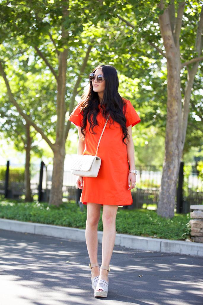jcrew-orange-off-the-shoulder-summer-dress