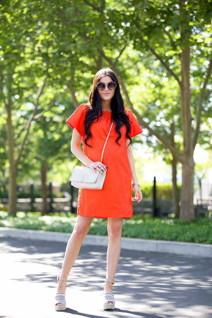 jcrew-orange-summer-dress