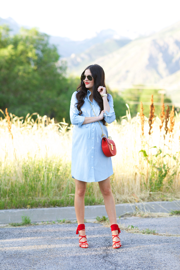 rachel-parcell-chambray-dress-1
