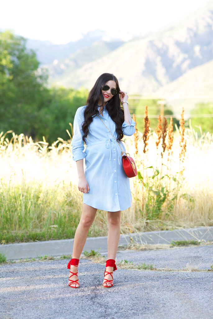 rachel-parcell-chambray-dress