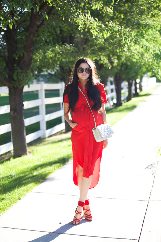 rachel-parcell-red-everyday-dress