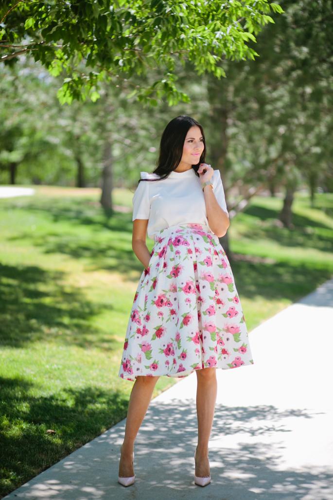 floral-a-line-skirt-rachel-parcell - 1