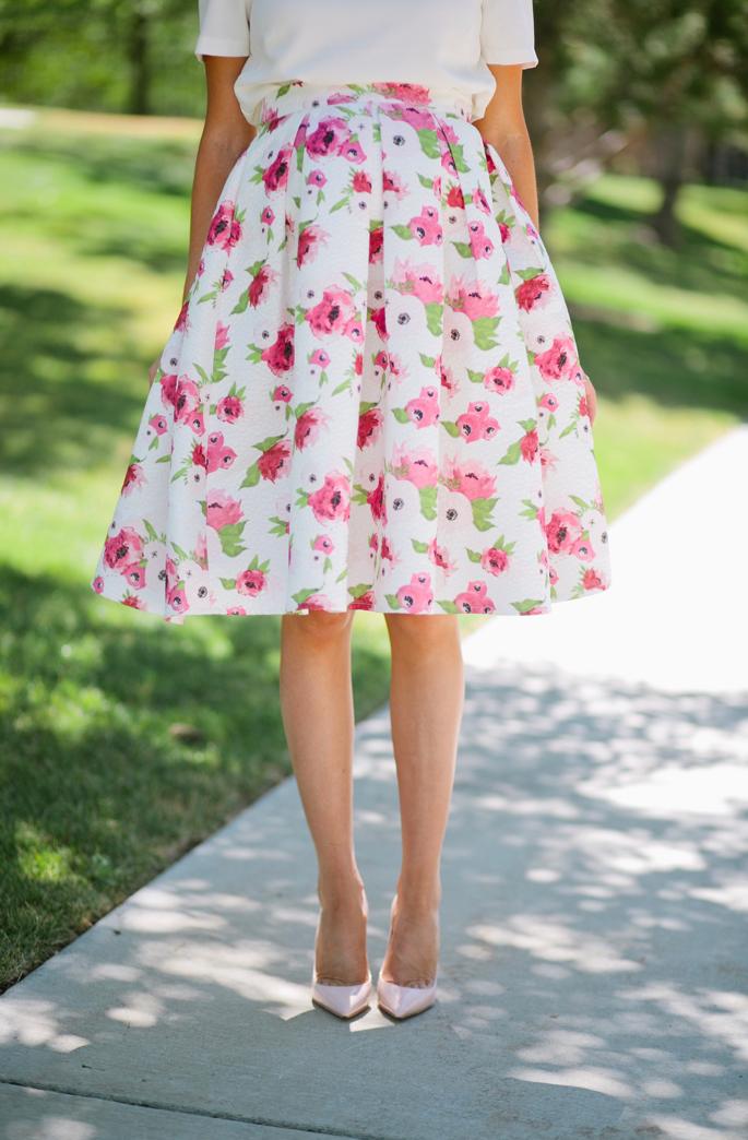 floral-a-line-skirt-rachel-parcell - 4