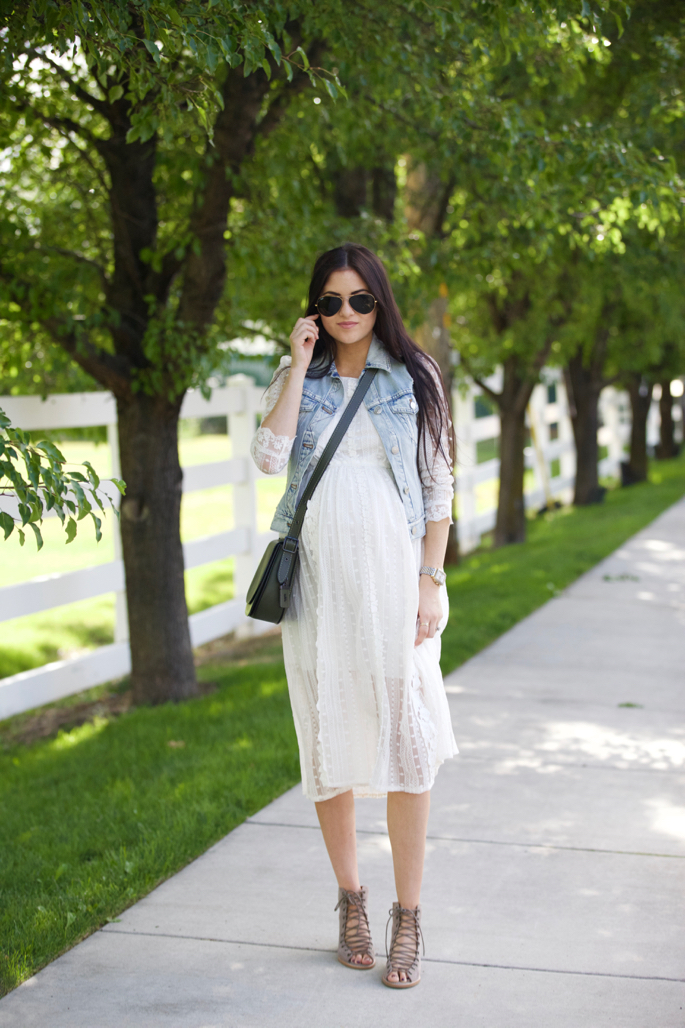 white-summer-dress-maternity - 1