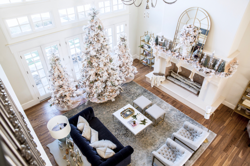christmas-home-decor-flocked-tree-white-1-2