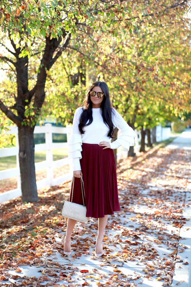 maroon-pleated-midi-chiffon-skirt-1