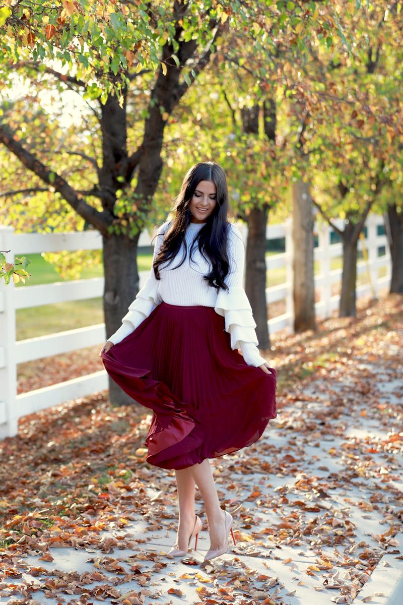 maroon-pleated-midi-chiffon-skirt-10
