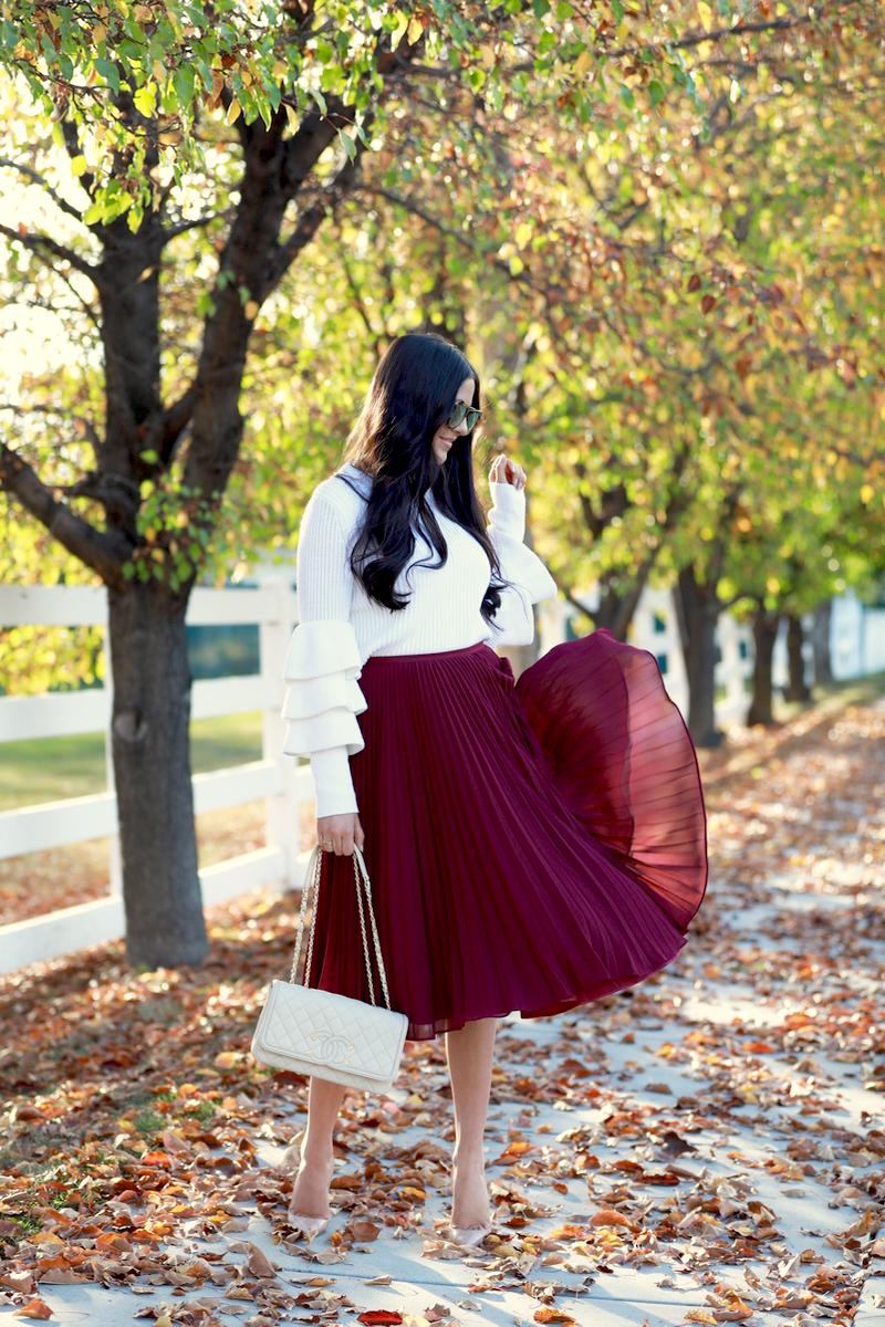 maroon-pleated-midi-chiffon-skirt-2