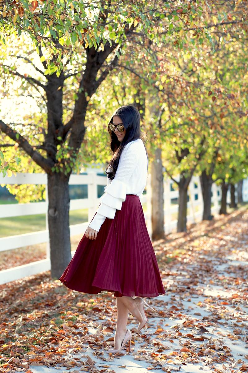 maroon-pleated-midi-chiffon-skirt-4