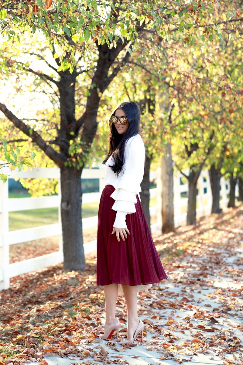 maroon-pleated-midi-chiffon-skirt-5