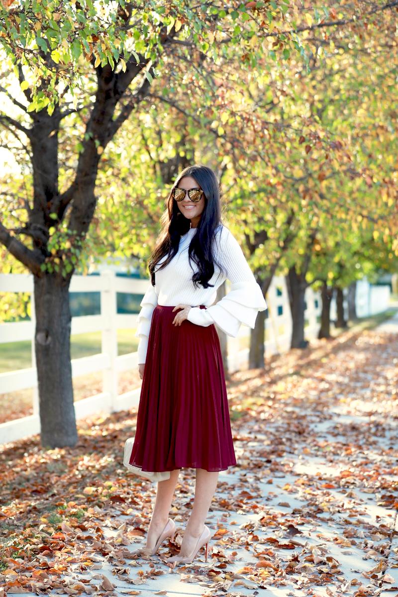 maroon-pleated-midi-chiffon-skirt-6