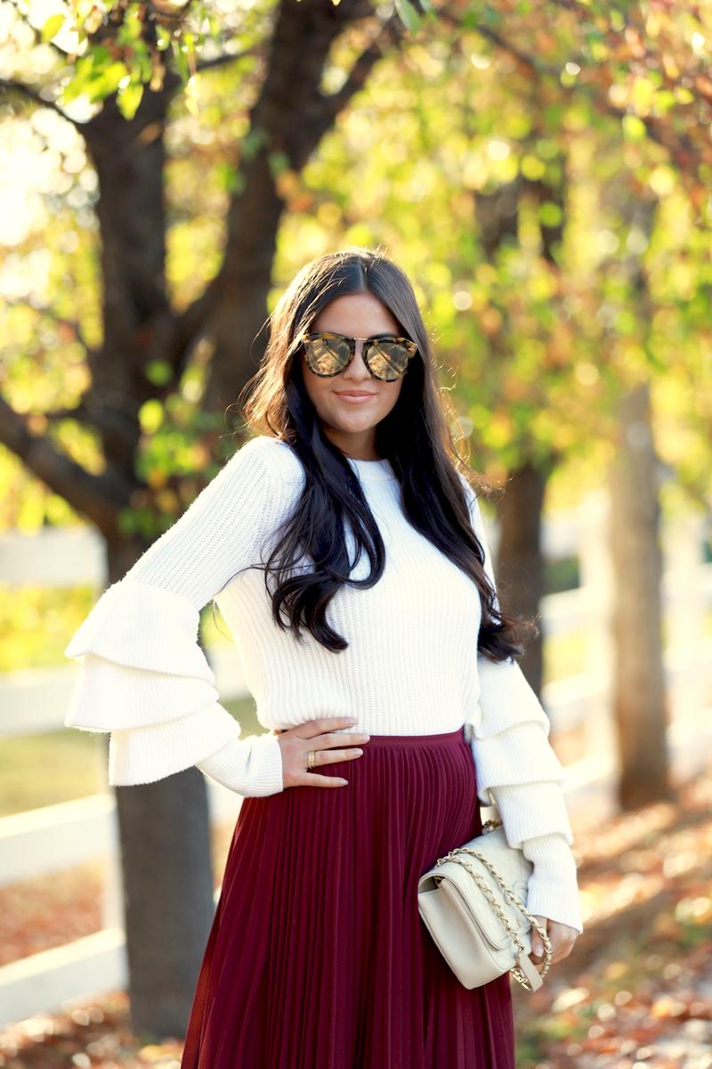 maroon-pleated-midi-chiffon-skirt-7