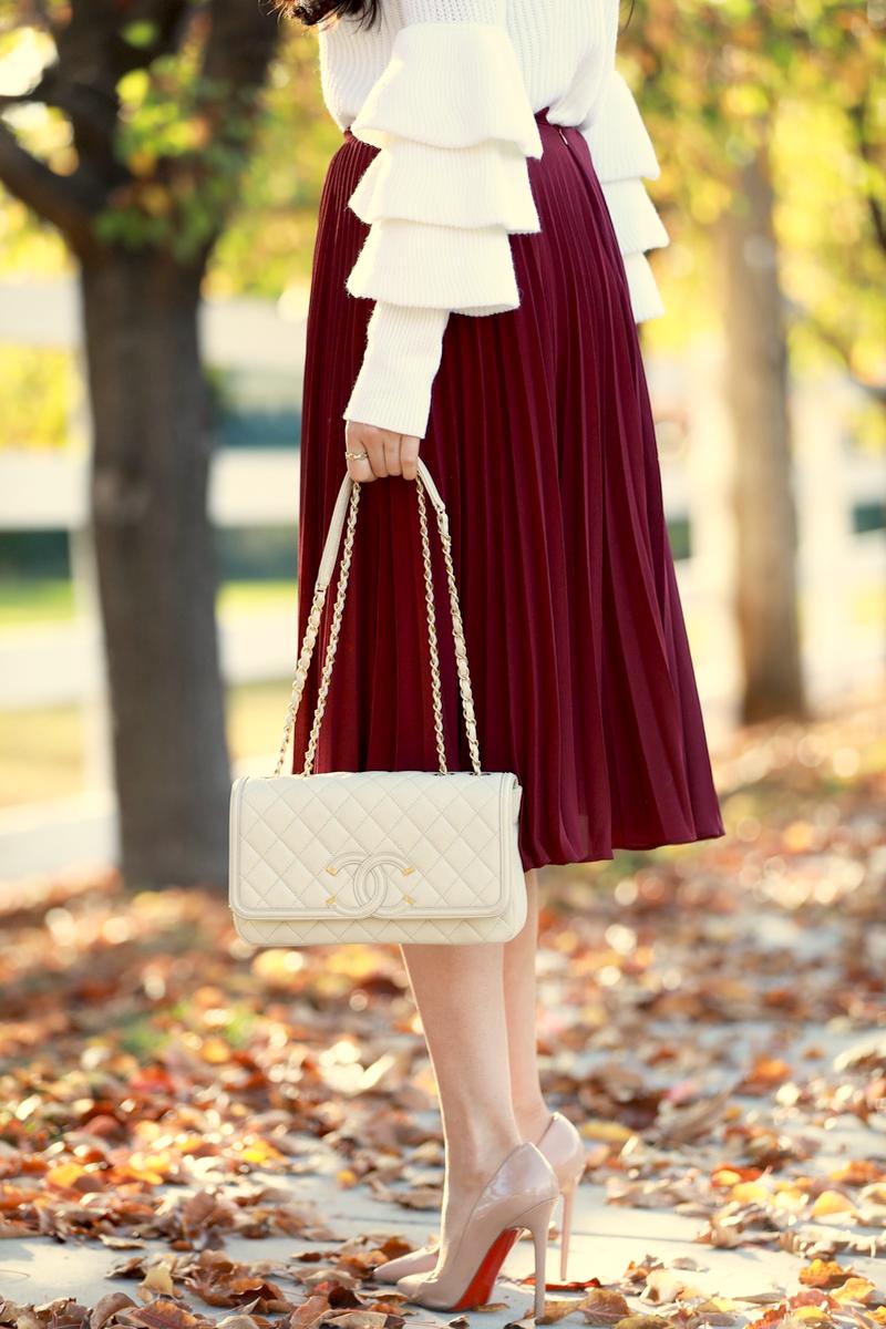 maroon-pleated-midi-chiffon-skirt-8