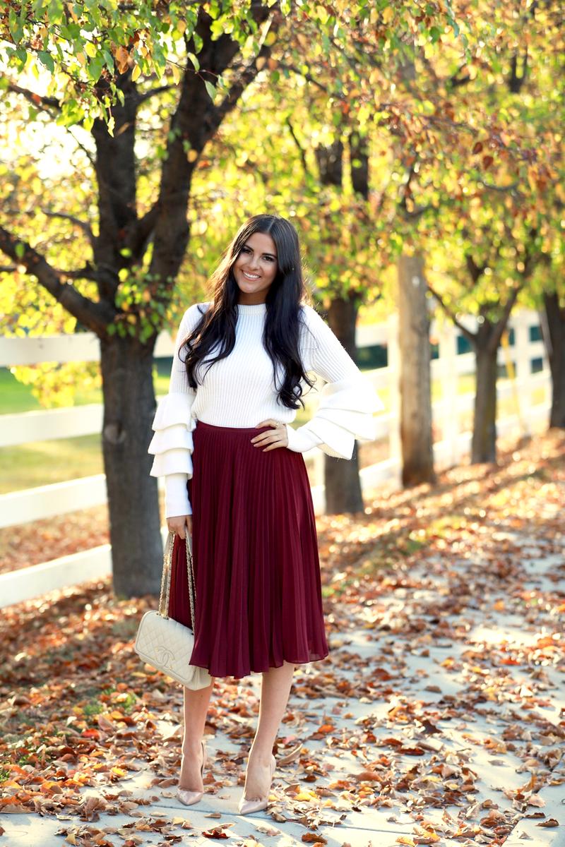 maroon-pleated-midi-chiffon-skirt-9