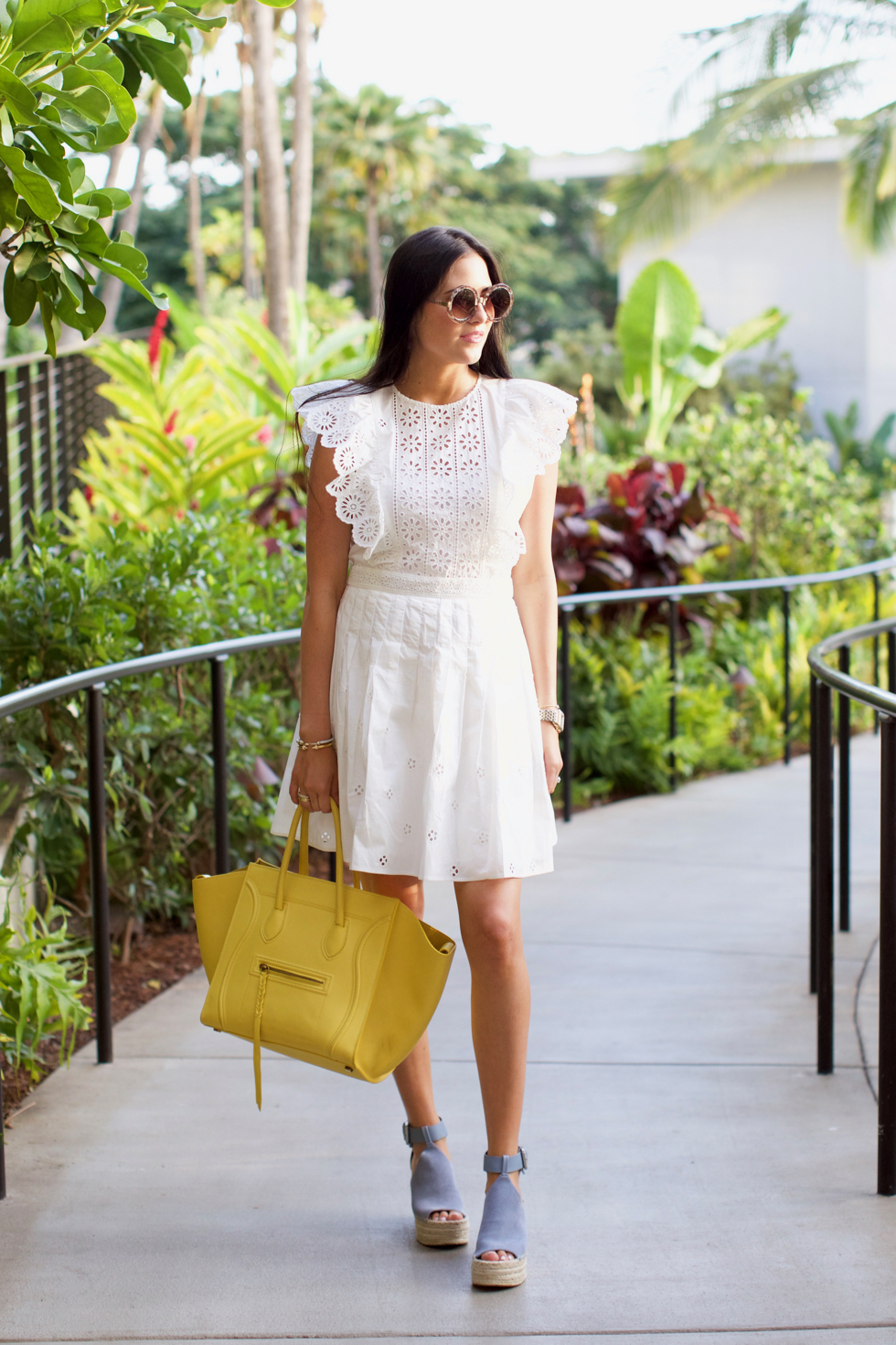 white-eyelet-sea-dress - 1