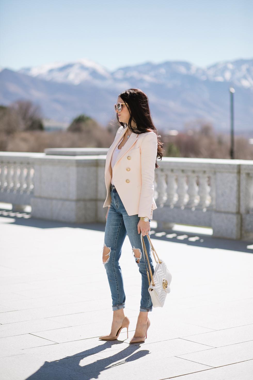 balmain-blush-pink-blazer - 4