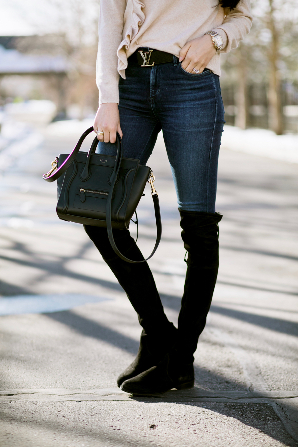 black-suede-stuart-weitzman-over-the-knee-boots - 9