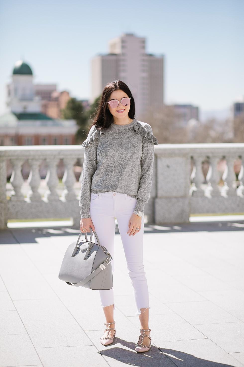 grey-topshop-ruffle-sweater - 2