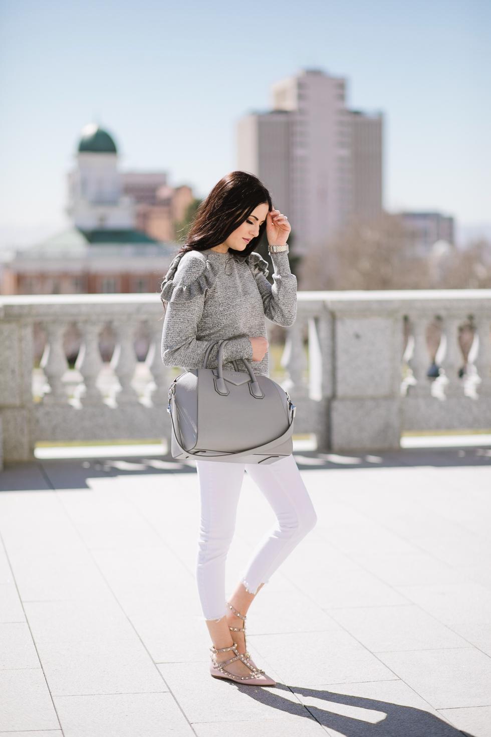 grey-topshop-ruffle-sweater - 5