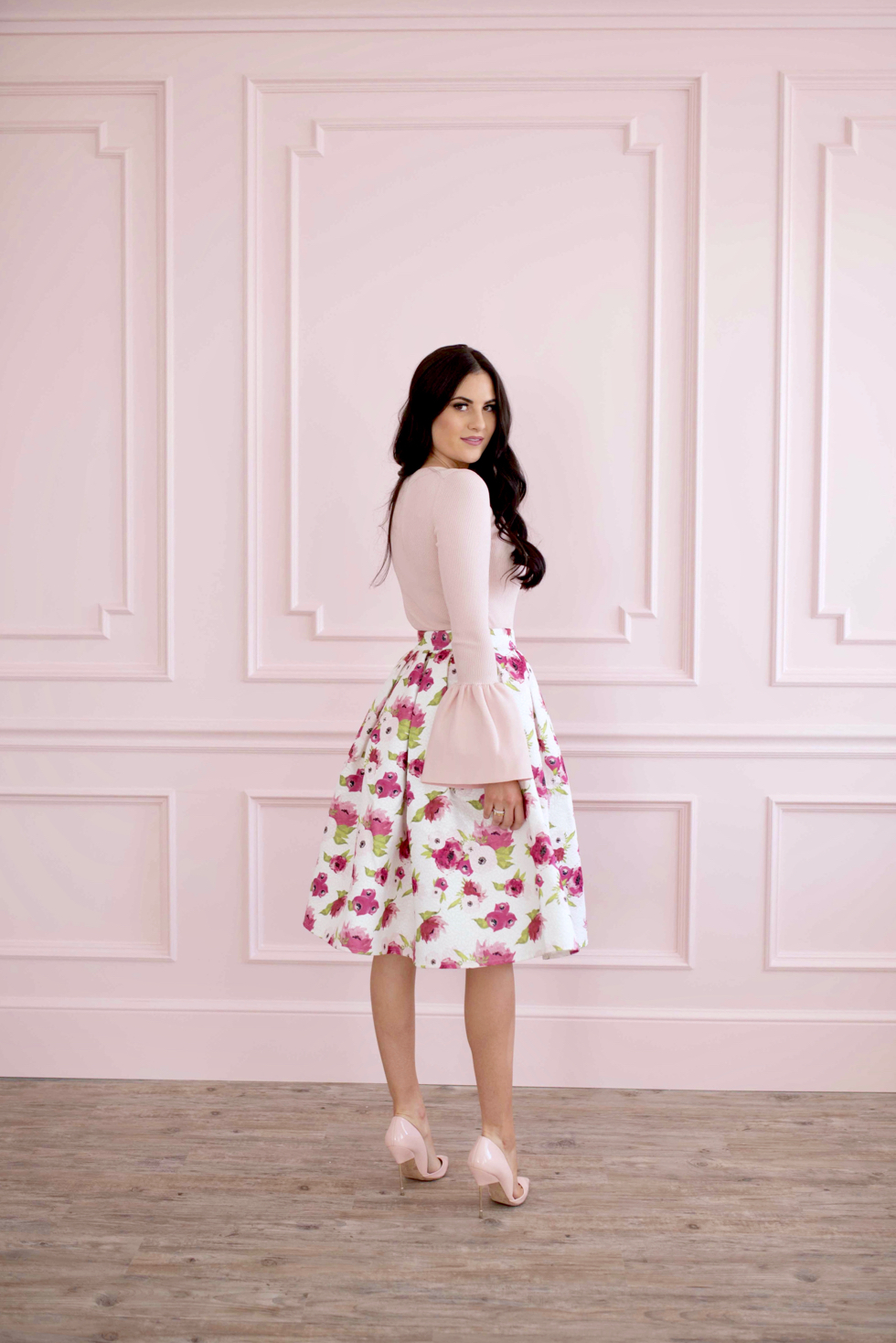 spring-floral-full-skirt - 1