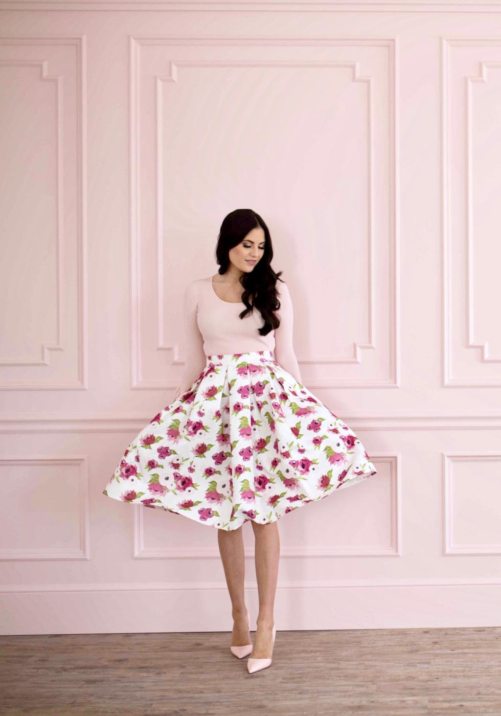 spring-floral-full-skirt - 3