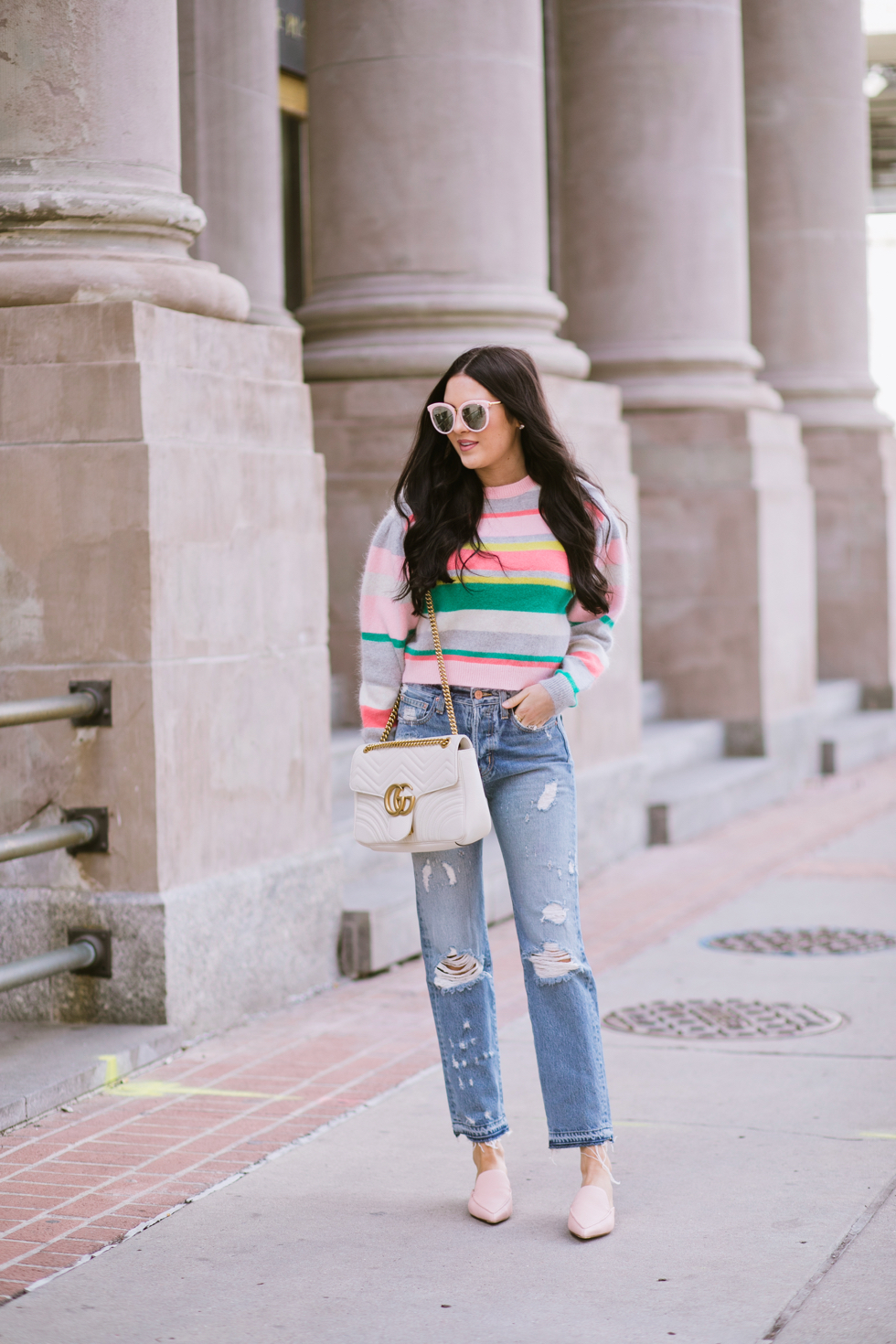 spring-time-outfits-rebecca-taylor-sweater - 1