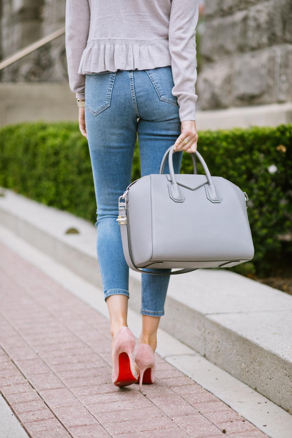 grey-rebecca-taylor-ruffle-sweater-pink-peonies-blogger - 11