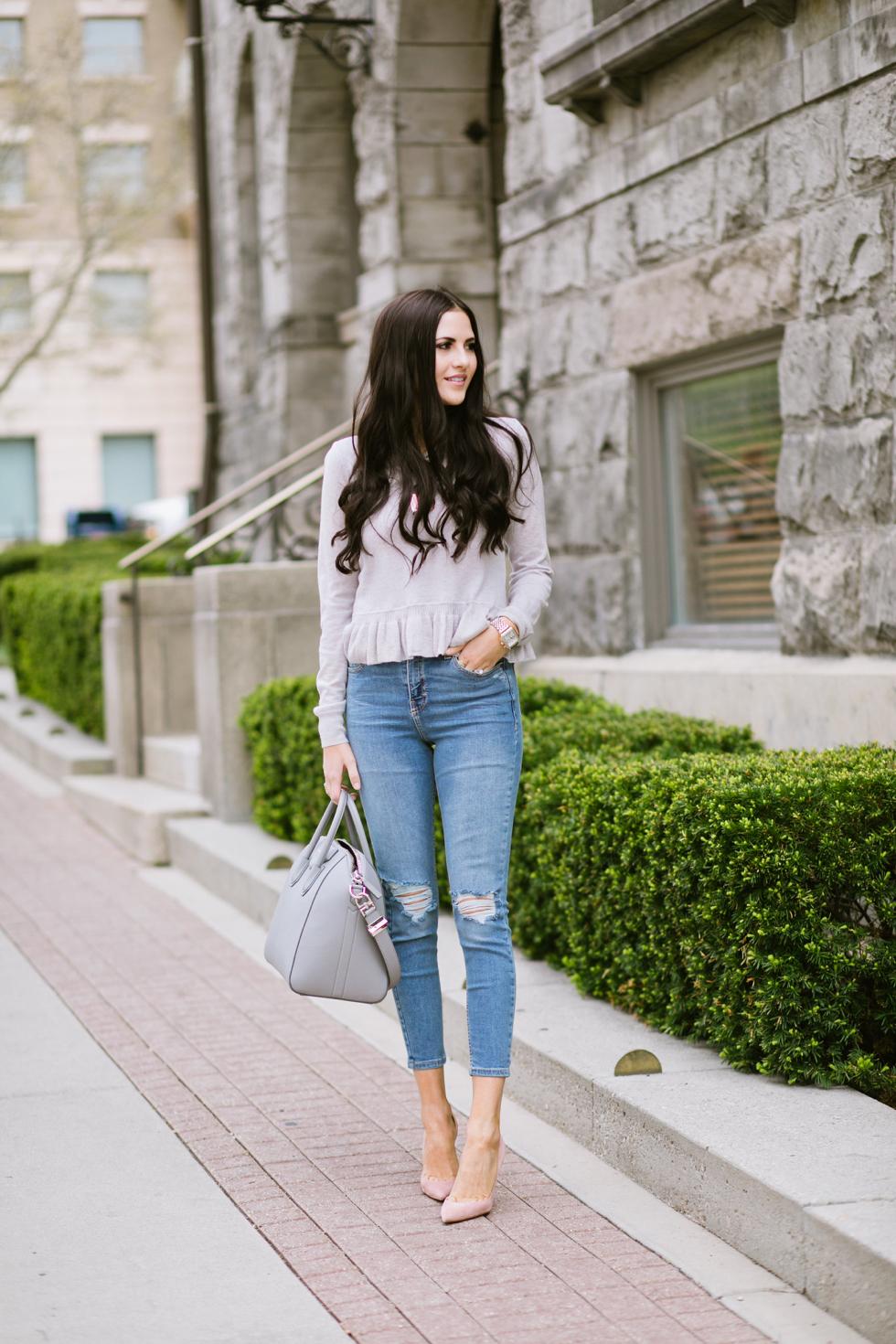 grey-rebecca-taylor-ruffle-sweater-pink-peonies-blogger - 3