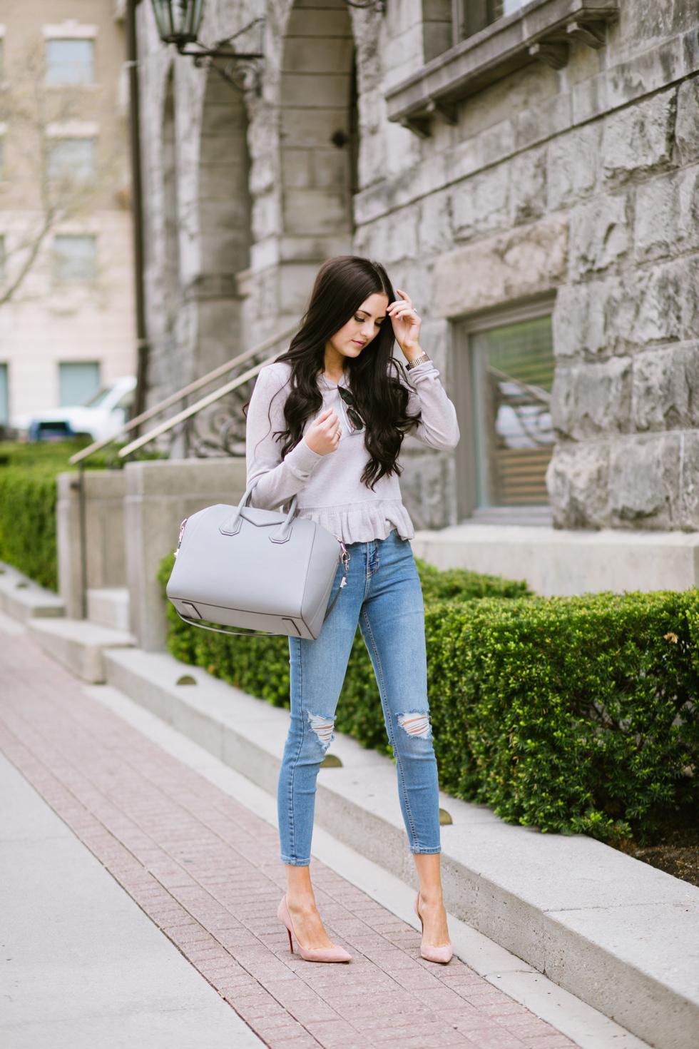 grey-rebecca-taylor-ruffle-sweater-pink-peonies-blogger - 5