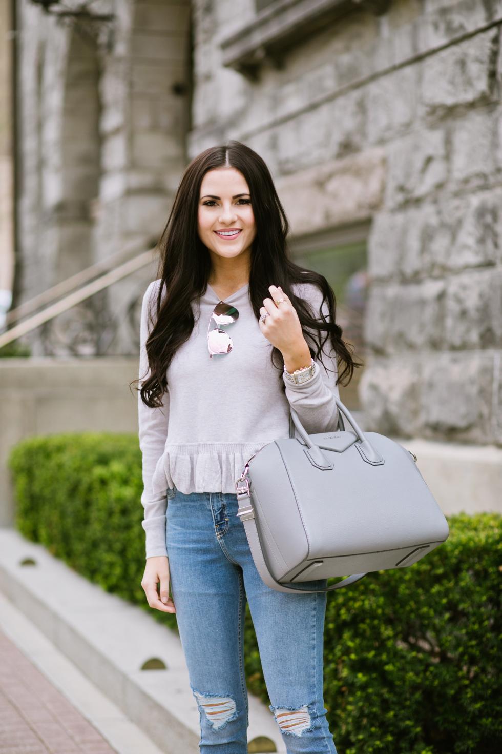 grey-rebecca-taylor-ruffle-sweater-pink-peonies-blogger - 9