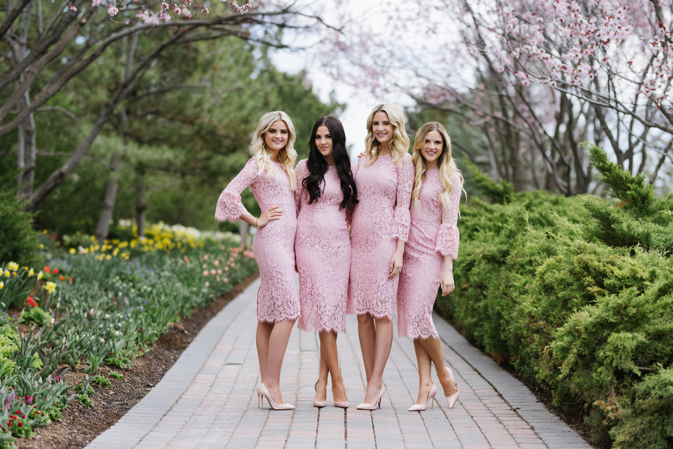 pink-lace-bridesmaid-dress - 1