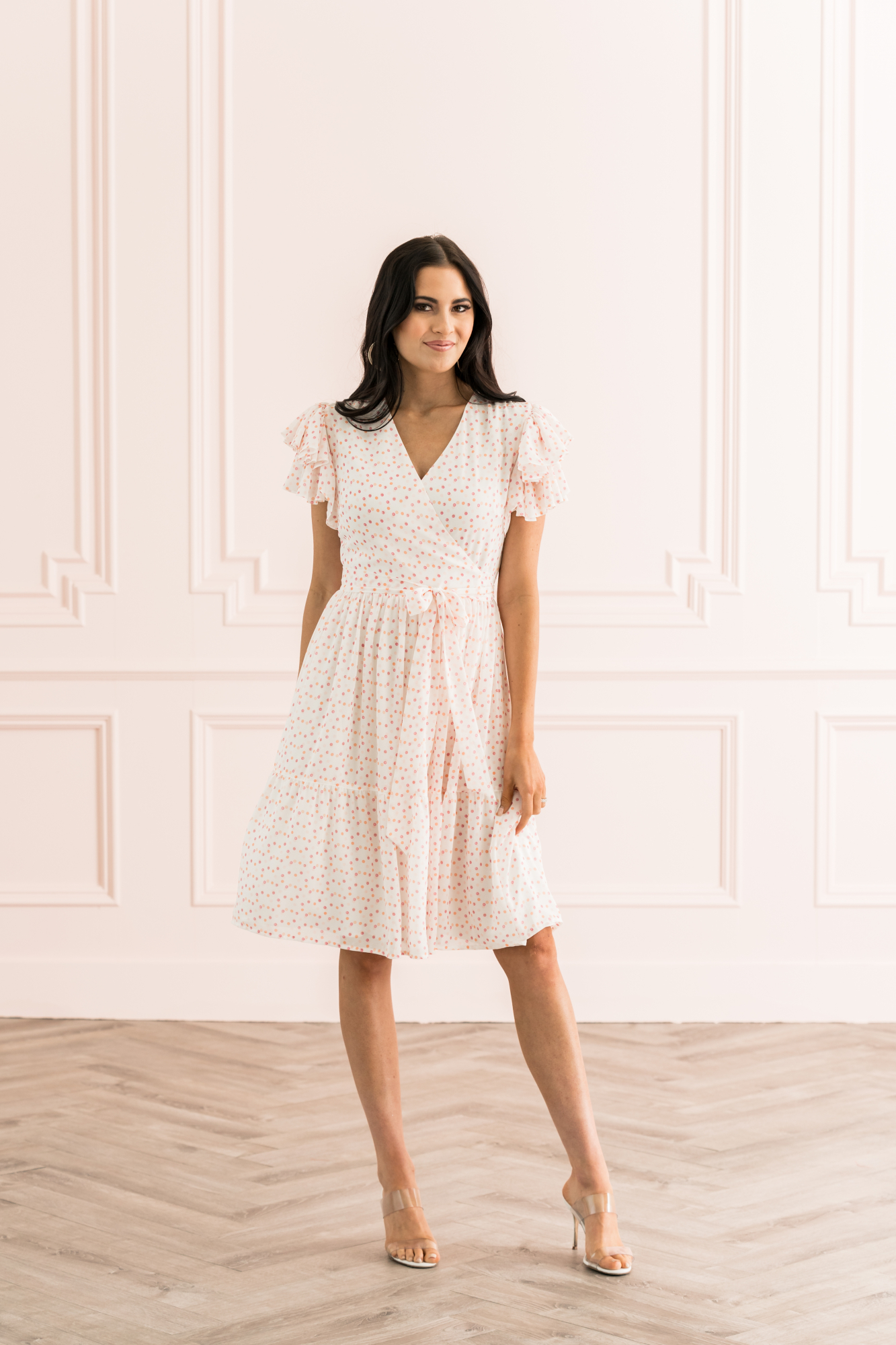 Tiered Ruffle Sleeve Dress Rach Parcell