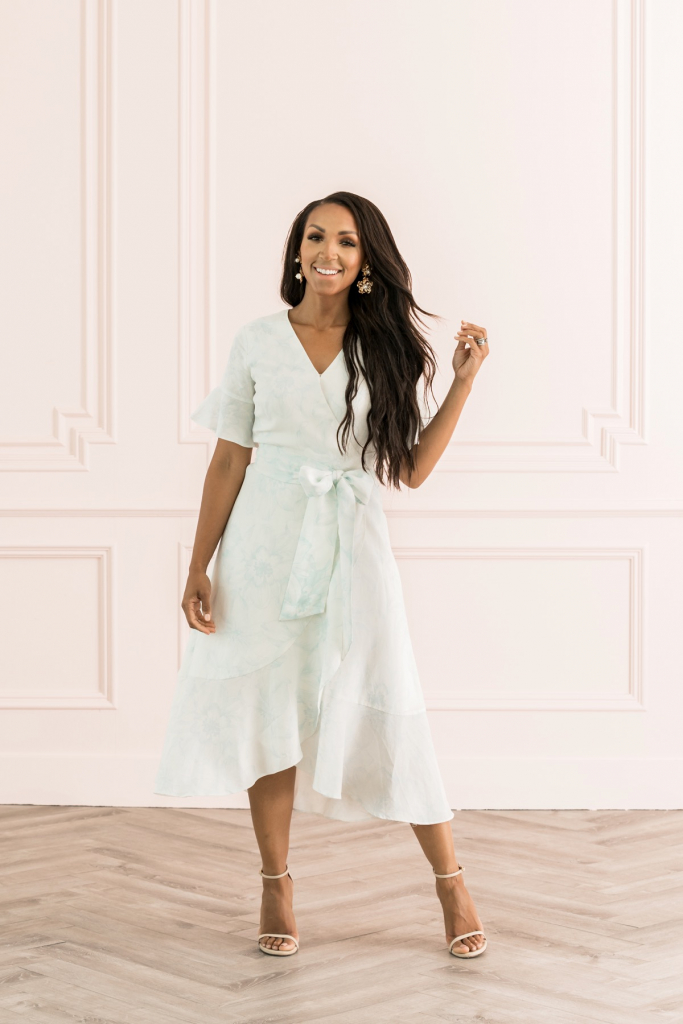 Ruffle Wrap Dress Rach Parcell
