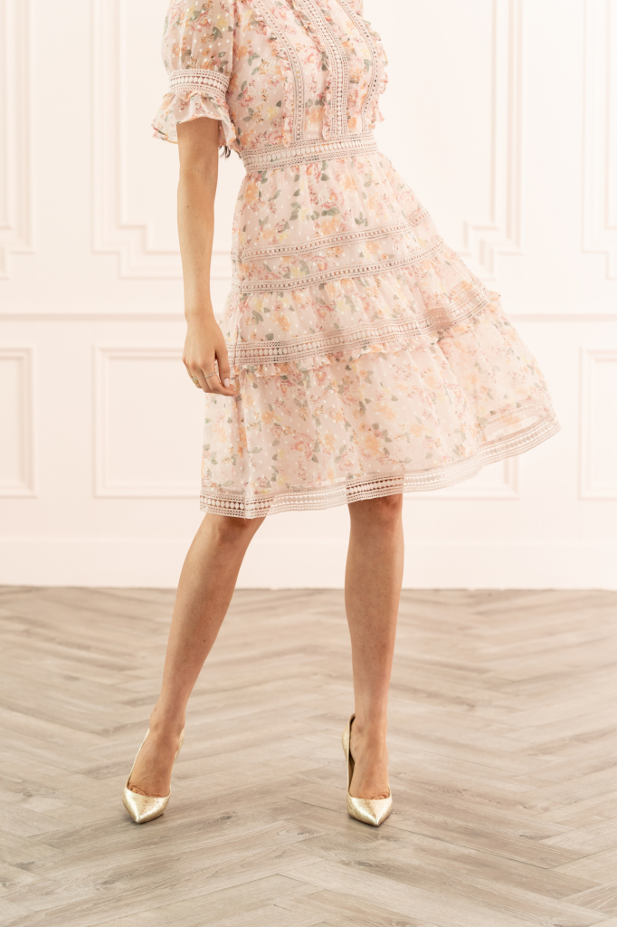Mixed Lace Fit Amp Flare Dress Rach Parcell