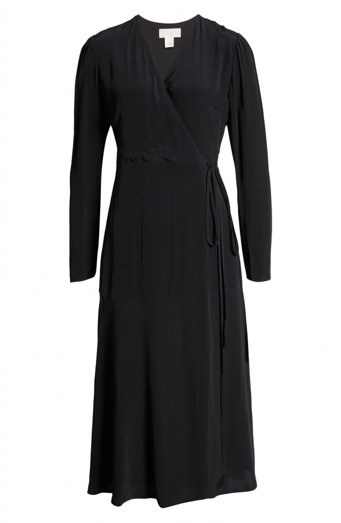 Long Sleeve Wrap Midi Dress Rach Parcell
