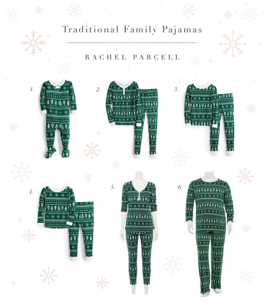 Traditional Matching Family Christmas PJ's