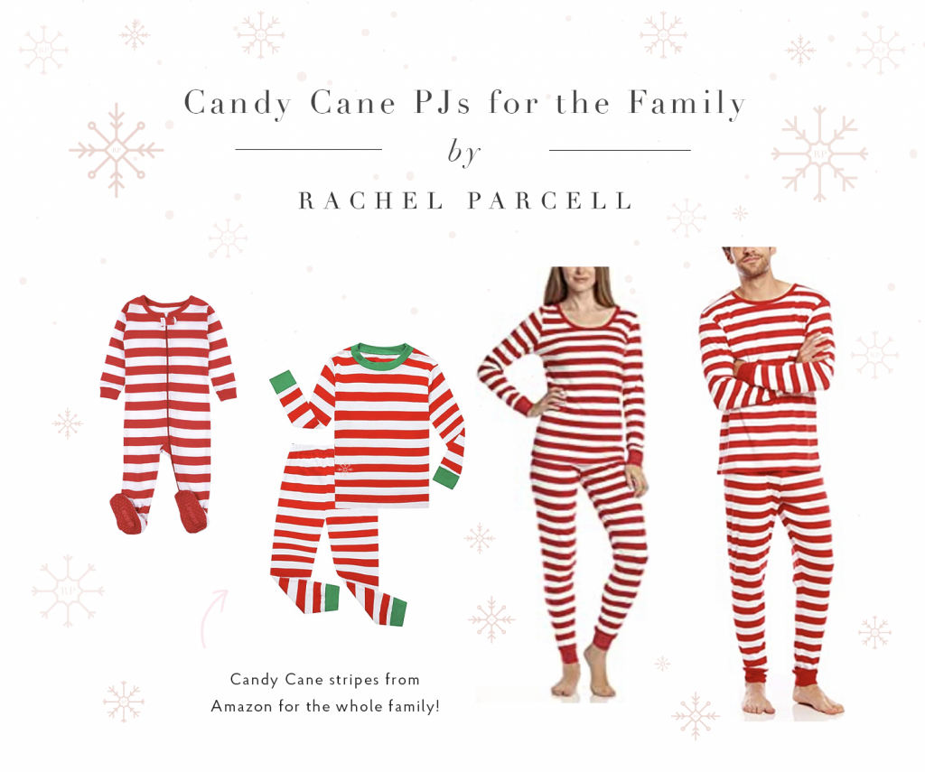 Matching Candy Cane Striped PJ's for the Family