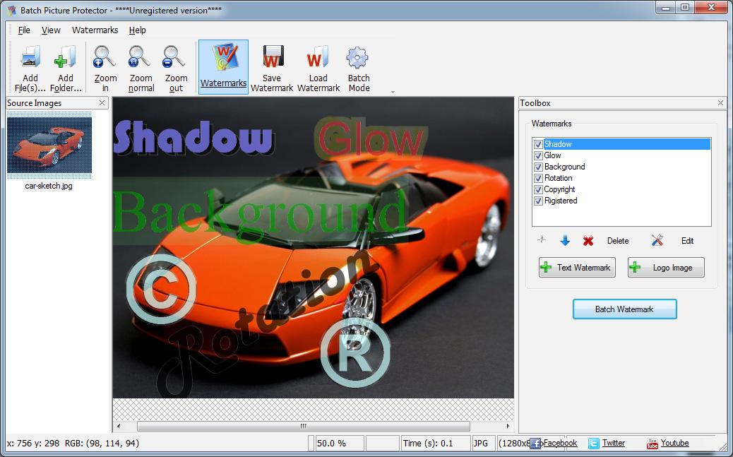 Batch Picture Protector صور من البرنامج