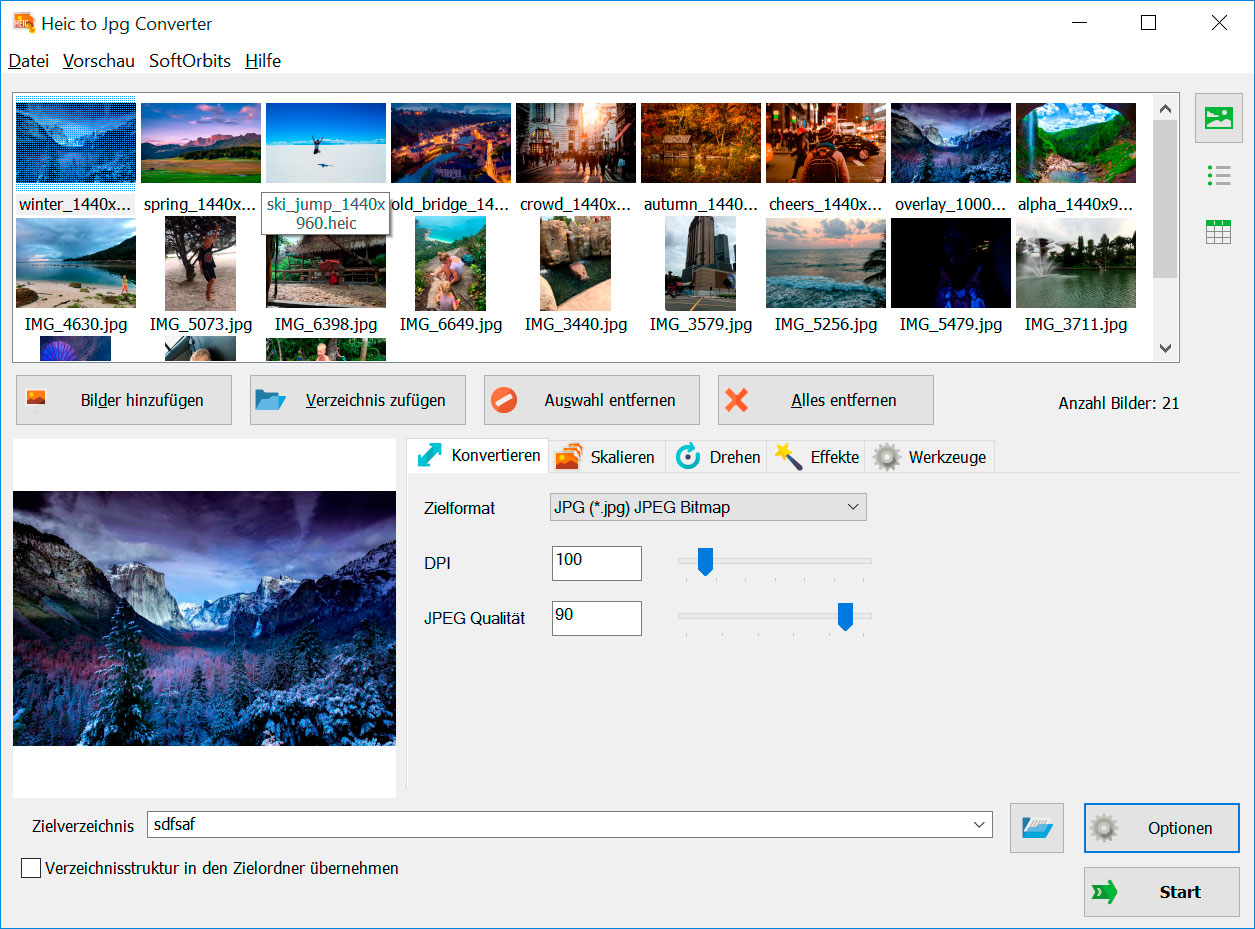 HEIC to JPG Converter Screenshots