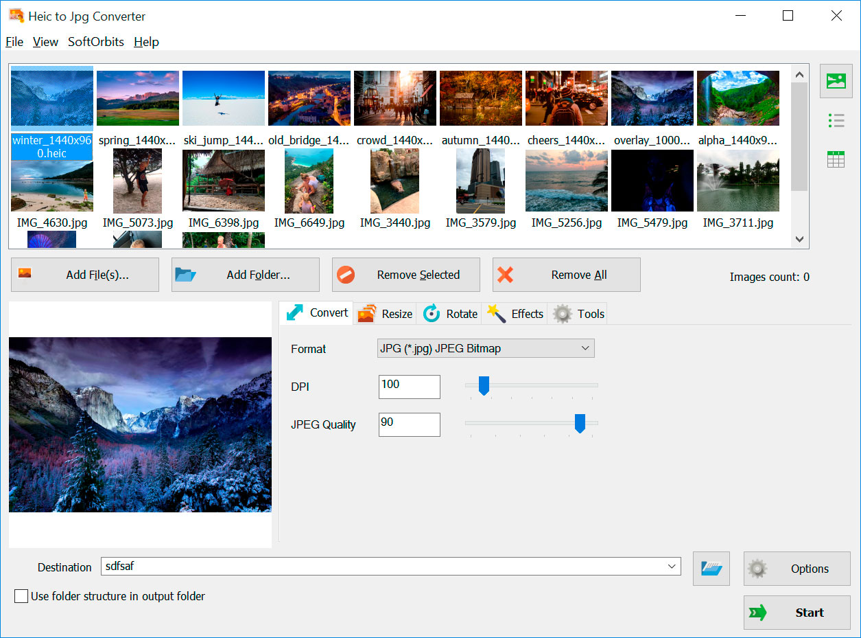 HEIC to JPG Converter Screenshots