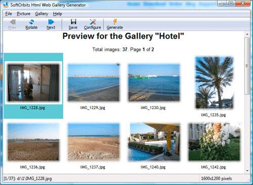 Html Web Gallery Creator صور من البرنامج
