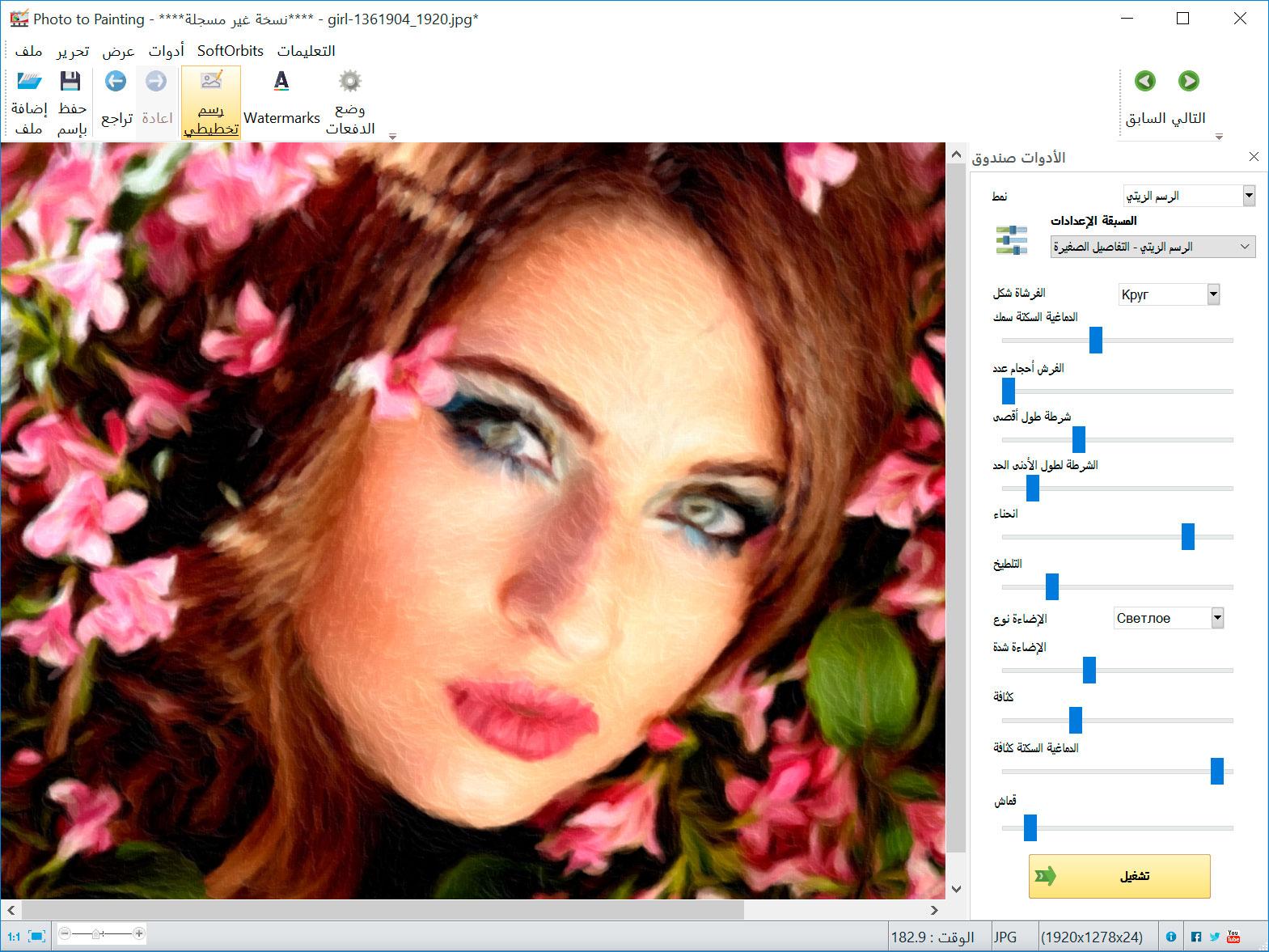 Picture to Painting Converter صور من البرنامج
