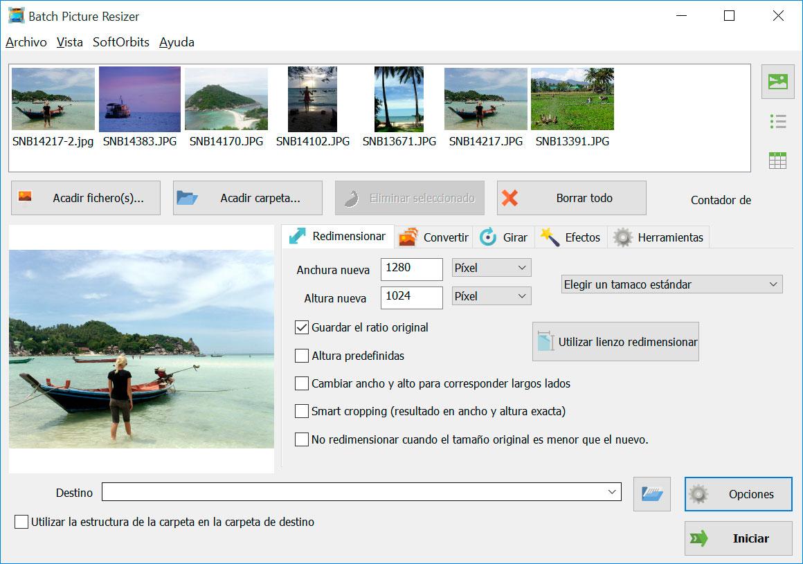 Batch Picture Resizer Capturas de pantalla