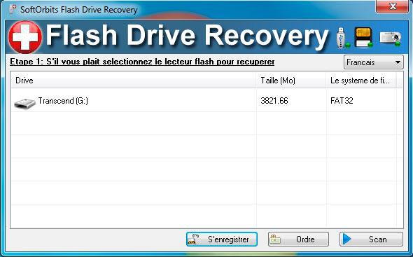 SoftOrbits Flash Drive Recovery Captures d'écran
