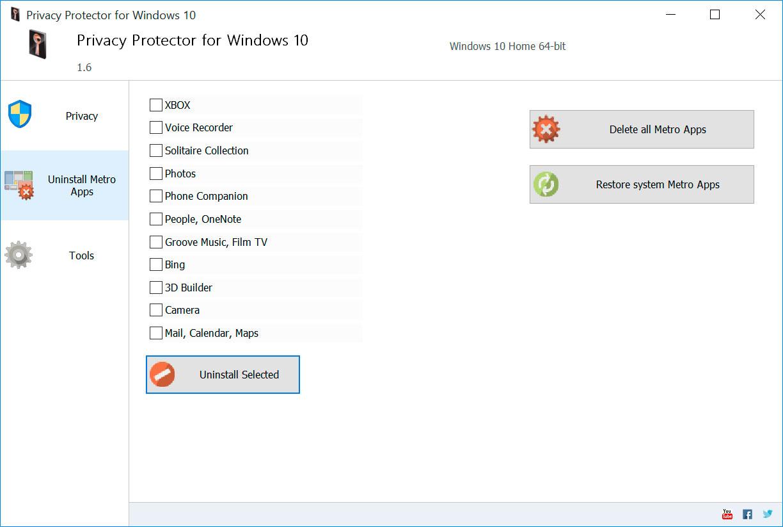 Uninstall Windows Metro Apps