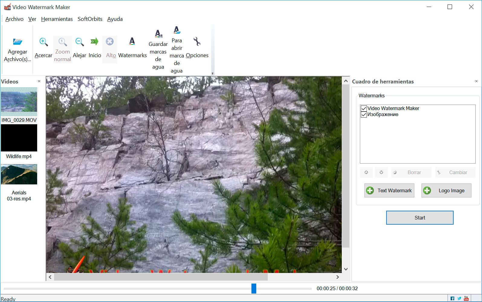 Video Watermark Maker Capturas de pantalla